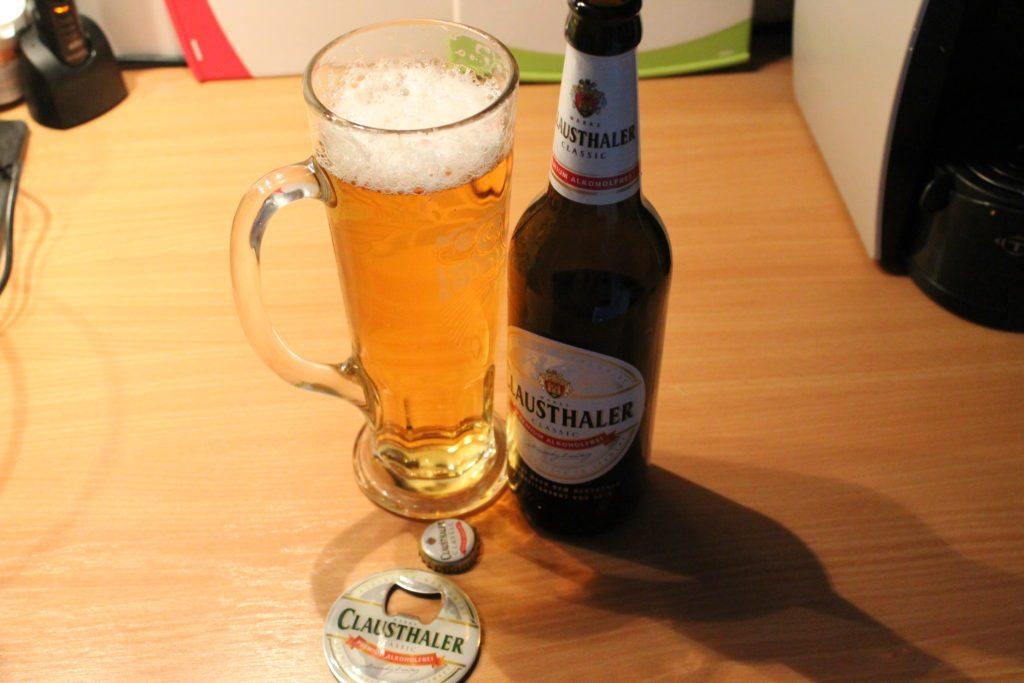 Clausthaler: ein kühles Blondes...