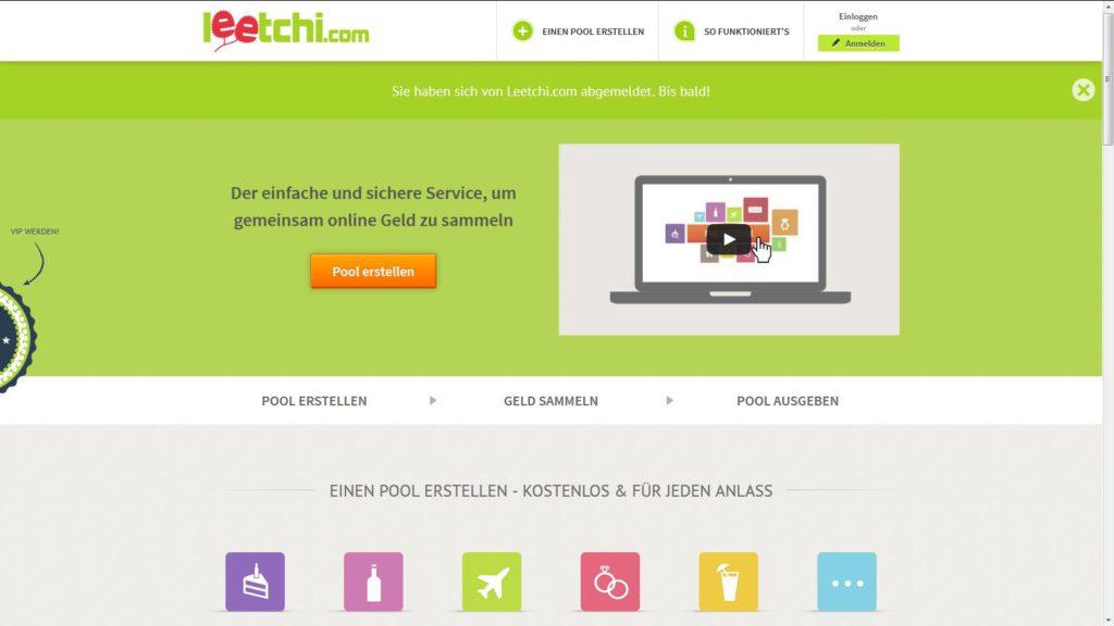 Leetchi.com: Personalisierter Pool, um Geld einzusammeln