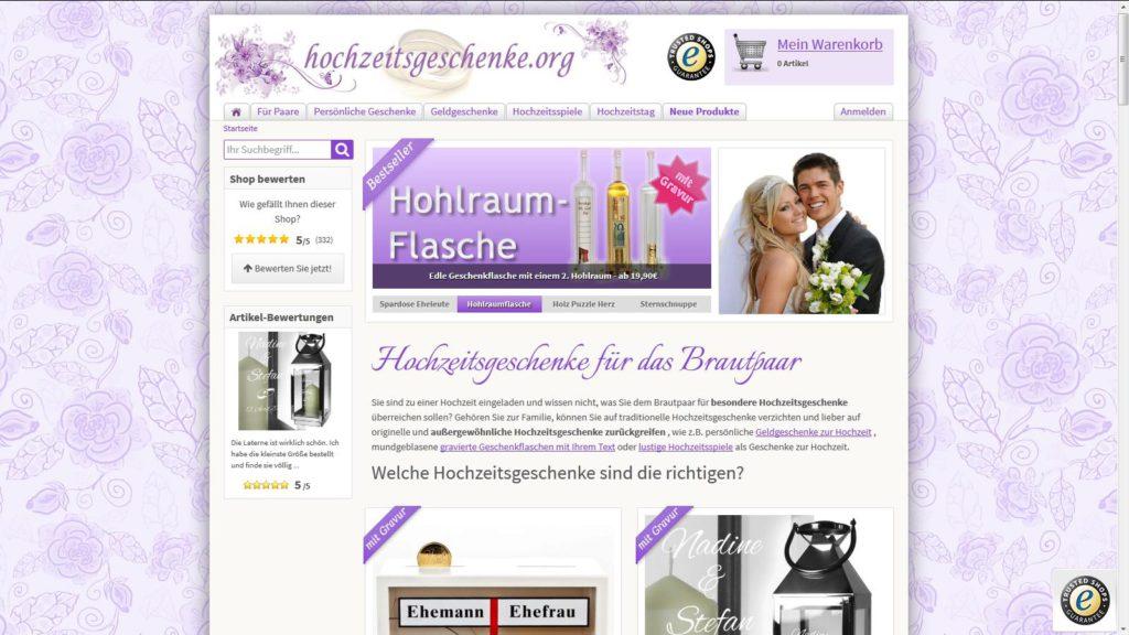 Hochzeitsgeschenke.org: Kitsch für den schönsten Tag des Lebens