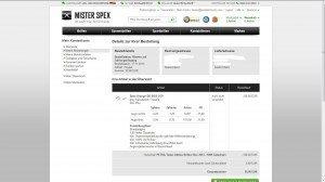 Mister Spex Bestelldetails