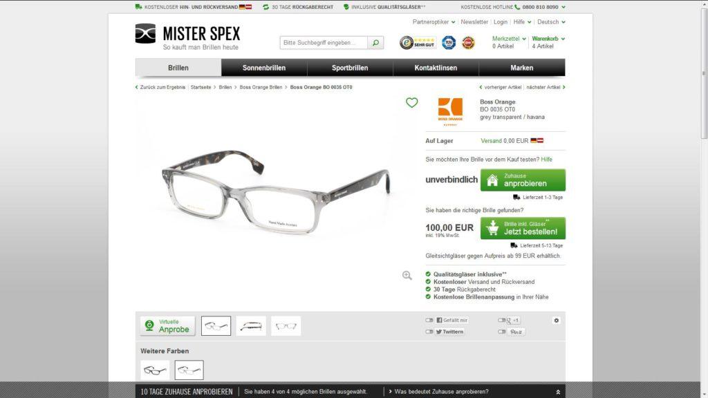 mr spex brillen testen