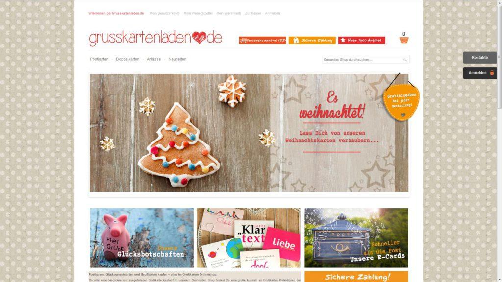Grusskartenladen Startseite