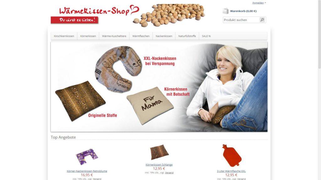 Wärmekissen-Shop vorgestellt