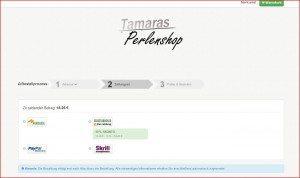 Tamaras Perlenshop Zahlungsart