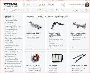 Tirendo Produktübersicht Autoteile