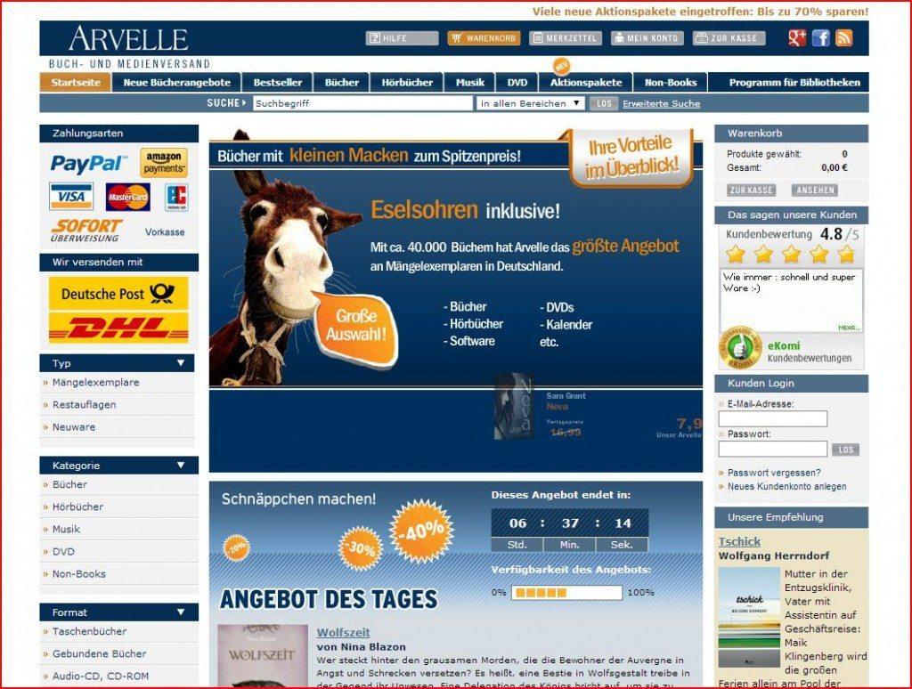 Arvelle Startseite