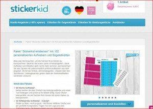 StickerKid Produktseite