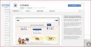 COOKIN Chrome Erweiterung