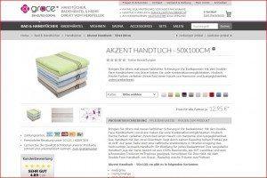 Grace Onlineshop Produktdetails