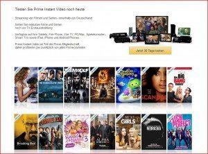 Amazon Instant Video Startseite