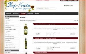Kreta Shop Olivenöle