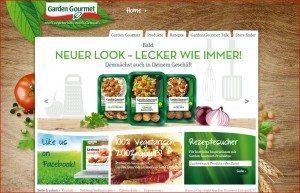 Garden Gourmet Website Startseite