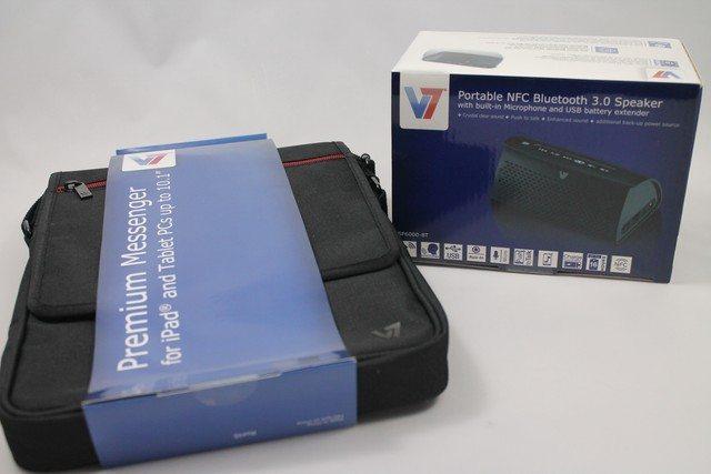 V7 Retro Bluetooth Lautsprecher & Premium Messenger Tragetasche im Test