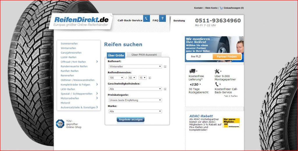 ReifenDirekt.de Startseite