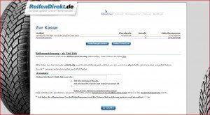 ReifenDirekt.de Warenkorb