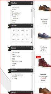 SALAMANDER Onlineshop Filter