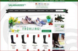 SALAMANDER Onlineshop Startseite
