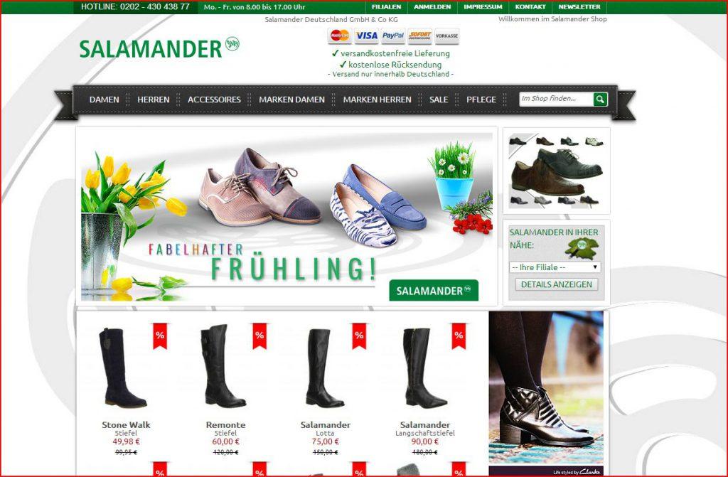 SALAMANDER Onlineshop vorgestellt