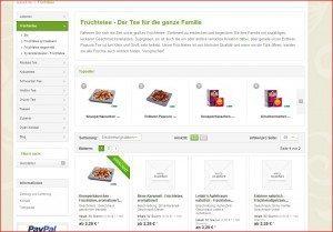 Teezeit Produktübersicht Früchtetee