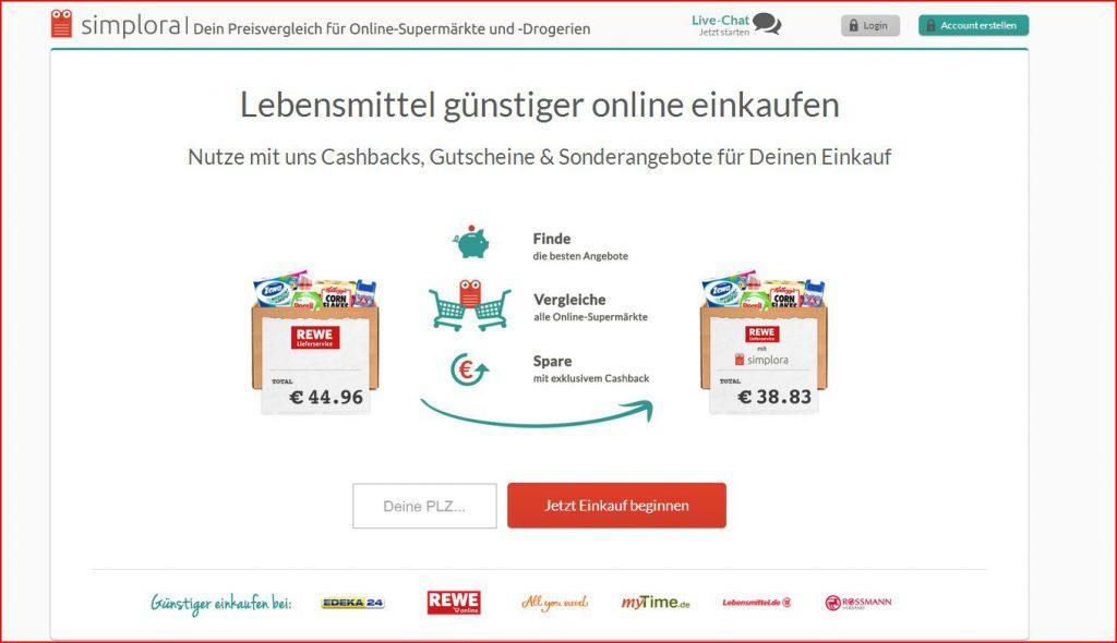 Simplora Online-Preisvergleich für Supermärkte vorgestellt
