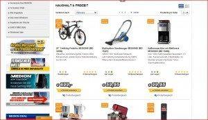 MEDIONShop Produktübersicht