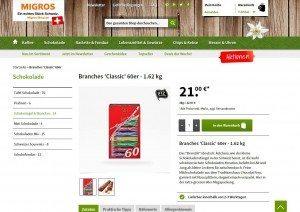 Migros Shop Produktbeschreibung