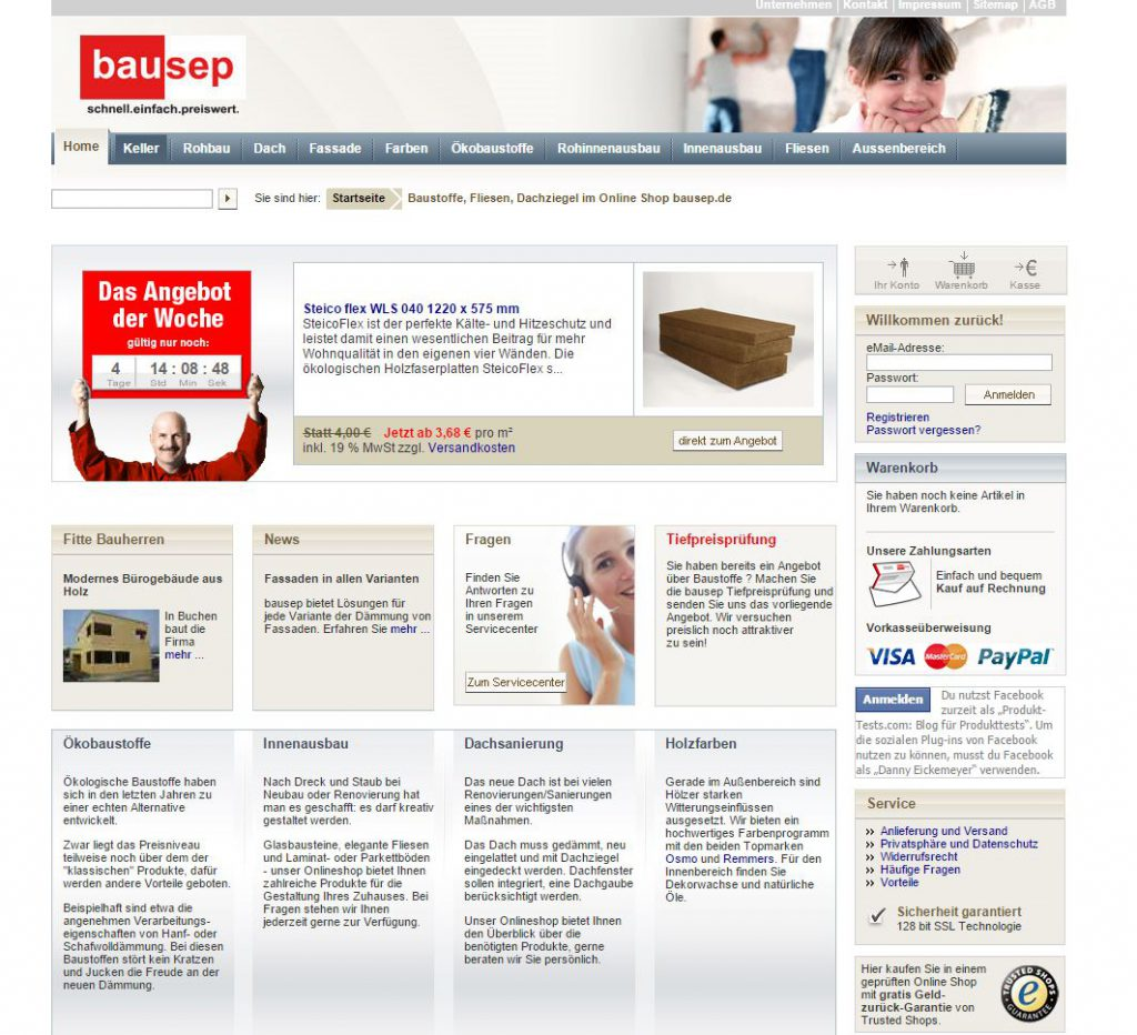bausep Baustoffhandel vorgestellt