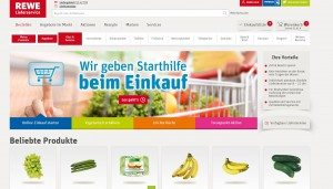 REWE Onlineshop Startseite
