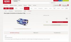 REWE Onlineshop Produktbeschreibung