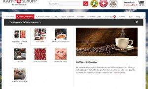 Kaffi Schopp Drop Down Kaffee
