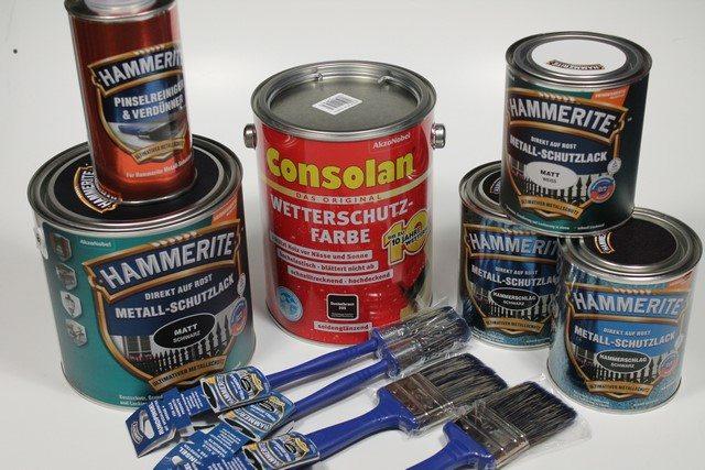 HAMMERITE Metall-Schutzlack & Consolan Wetterschutz-Farbe im Test
