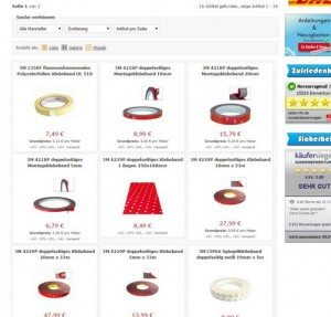 Dondo.de Produktübersicht Klebeband