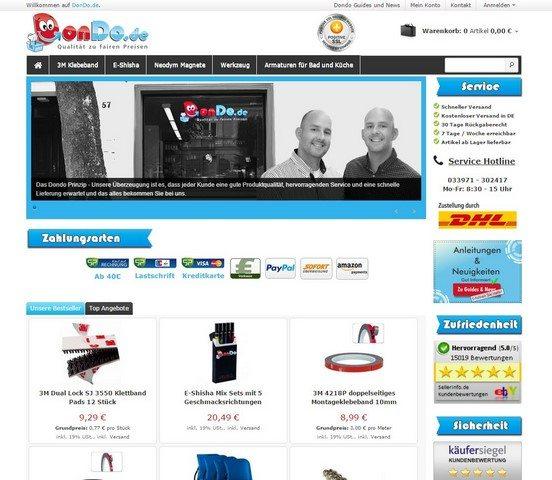 DonDo.de Onlineshop vorgestellt