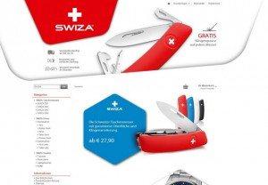 SWIZA Shop Startseite 1