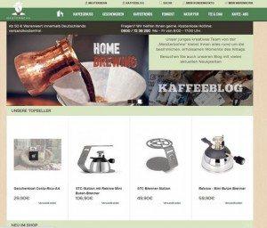MASTERBEAN Onlineshop Startseite