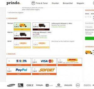 Prindo.de Zahlungsarten