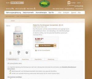 Ratanhia Zahnpflege Mundwasser