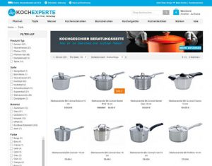 kochexperte.com Produktübersicht Töpfe