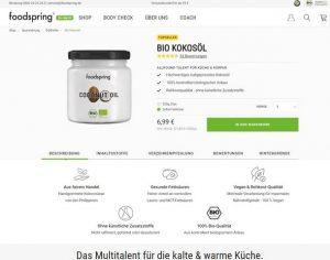 Foodspring Produktbeschreibung 1