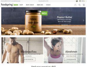 Foodspring Startseite