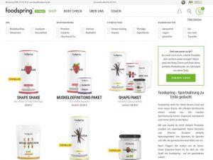 foodspring Produktübersicht