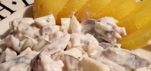 Rezept: Heringsstipp mit Pellkartoffeln
