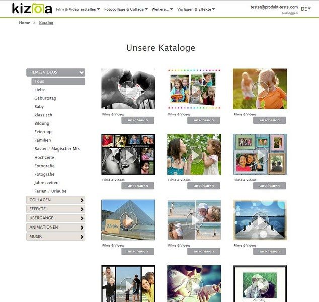 Kizoa Online Movie Maker im Test | Produkttests von uns für Euch!