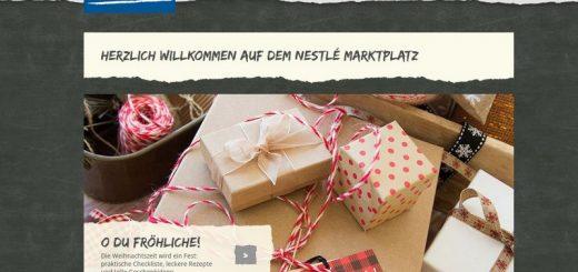 nestle-marktplatz.de - Das Nestlé Verbraucherportal vorgestellt
