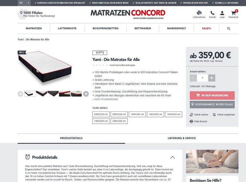 matratzen concord 140x200 best unsere yumi by matratzen concord with matratzen concord 140x200. Black Bedroom Furniture Sets. Home Design Ideas