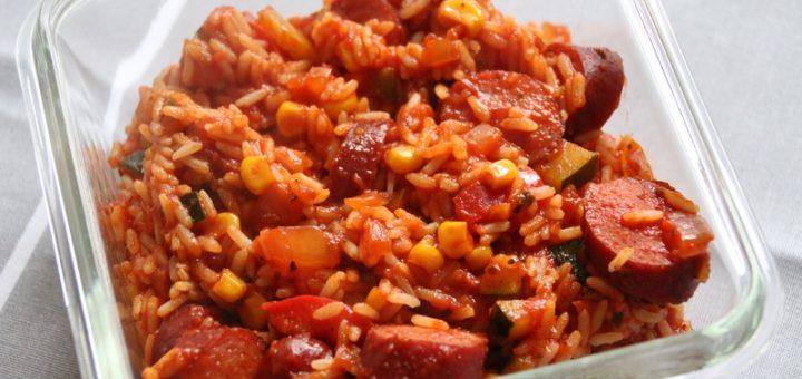 Rezept: Cabanossi-Reis-Pfanne