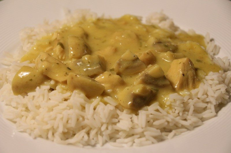 Rezept: Curry-Putengeschnetzeltes