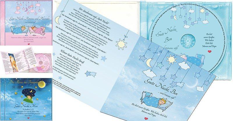 Kinder-Schlaflieder - Personalisierte CDs mit Zauberkraft