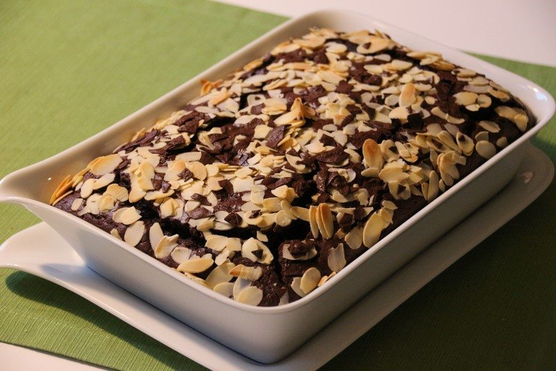 Rezept Kirsch Schoko Kuchen Mit Mandeln
