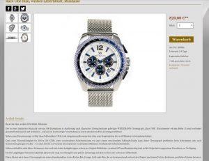 Limitierter Race ONE Chronograph von OTTO WEITZMANN vorgestellt